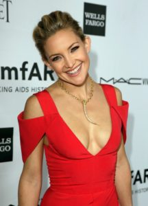 kate hudson in a red dress